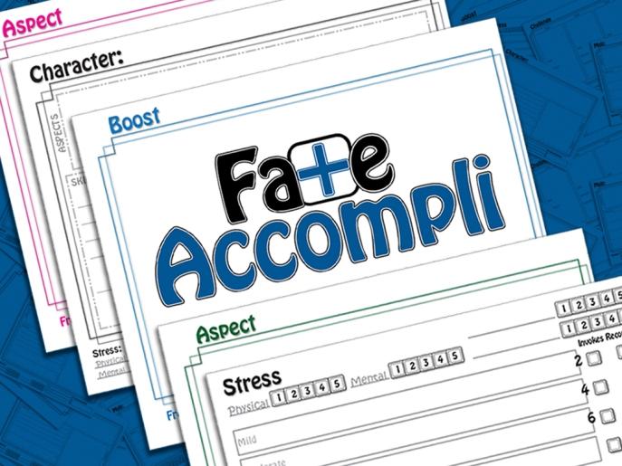 Fate Accompli Kickstarter Preview. Click Me!